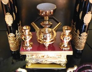 小さいお仏壇へのお供え