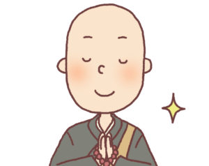 仏壇に手を合わせる