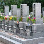 法事後に墓地へ