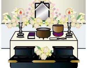 ペット葬儀の祭壇