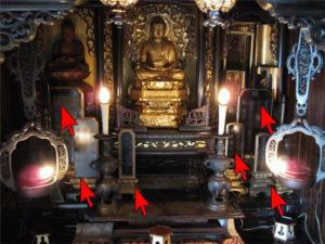 お仏壇に位牌がいっぱい