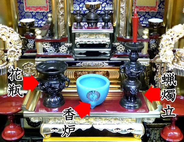 浄土真宗仏壇の飾り方
