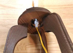 盆提灯の電気ローソクの使い方