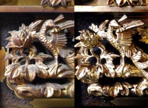 金箔洗浄の比較